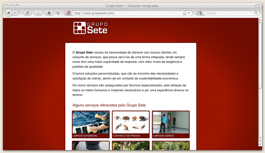 Website Grupo Sete
