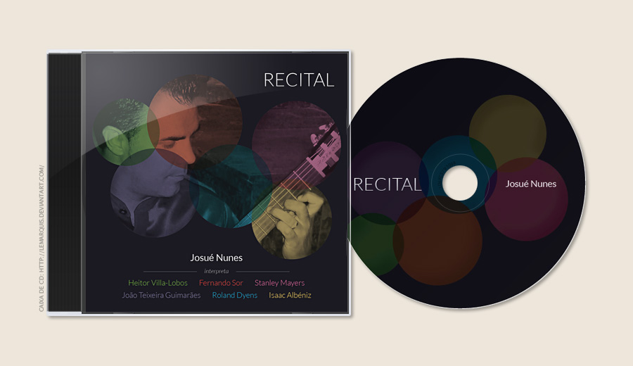 Design Gráfico: CD — Recital, Josué Nunes