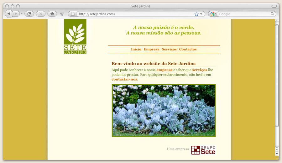 Website Sete Jardins